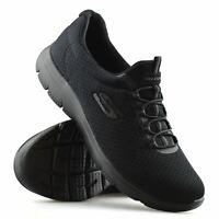 Womens Skechers Summits Slip On Memory Foam Walking Sports Trainers Shoes Size