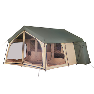 NEW Camping Tent 14 Person 2 Room Cabin Outdoor Large Family Lodge Privacy Porch