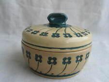 alte Keramik Deckeldose Dose um 1900 Kleeblatt ? Blumen Dekor Westerwald ? q