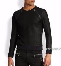 VERSACE COLLECTION Black Metallic Zipper Sweatshirt jumper L & XXL, rrp399GBP