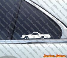 2X Lowered car stickers - for CHEVROLET El Camino (1973-1977) | classic car