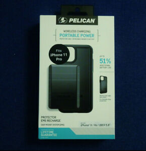 Pelican Protector Case + EMS Recharge Battery Pack for iPhone 11 Pro (fits X/Xs)