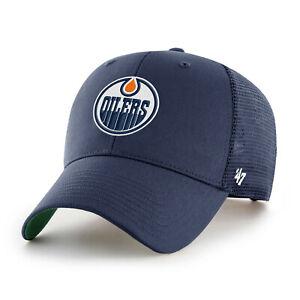 NHL Edmonton Oilers Cap Basecap Baseballcap Branson Navy Trucker 194602355573