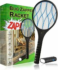 Rechargeable High-voltage Electric Fly Swatter Mosquito Racket Bug Zapper Killer