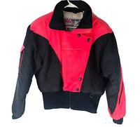 Nils Vintage Puffer Goose Down Ski Jacket Hot Pink Retro Snowboard 80's Size 8