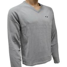 Oakley Club Knit Mens Size S Small Neutral Grey Knitted Sweater Golf Jumper