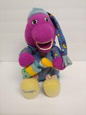 Vintage Barney Purple Dinosaur BRUSH YOUR TEETH Talking Singing Plush Toy WORKS
