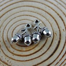 50pcs Vintage Silver Branches Nuts Alloy Pendants Charms Jewelry Making 52158