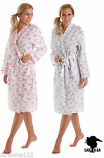 Knee Length Cotton Floral Robe Nightwear for Women