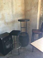 Stehtisch + Fasstisch + DAB Bierfass mit Barhockern + Partytisch