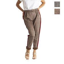 Pantalone donna confort alla caviglia con elastico in vita made in italy 1444