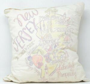 New Jersey Roadmap Pillow