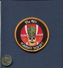 HMLA-367 SCARFACE Skid DET 31st MEU USMC MARINE CORPS Squadron Patch