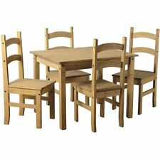 Farmhouse Up to 4 Seats Table & Chair Sets with Flat Pack