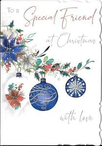 CHRISTMAS CARD TO A SPECIAL FRIEND - CHRISTMAS BAUBLES