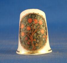 Birchcroft China Thimble -- William Morris Orange Tree --  Free Dome Gift Box