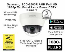 Samsung SCD-6083R HD 1080p Analogue Dome Varifocal IR AHD CCTV 3YR Warranty ICR
