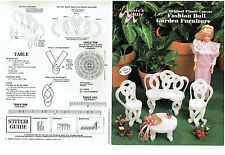 Fashion Doll  GARDEN FURNITURE   plastic canvas  PATTERN  LEAFLET (#469)