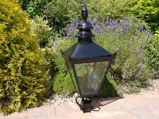 Large Traditional Black Victorian Lantern for lamppost Tops Light Top 3138