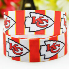 50yards 22mm Kansas city chiefs Sport team ball printed Grosgrain Ribbon party