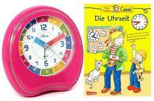 Kinderwecker + Lernbuch Connie Uhrzeit lernen Rosa Pink Mädchen - 1953-17 BU