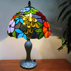 "Handmade Stained Tiffany Glass Colorful 10"" Table Bedside Home Decor Lamp Light"