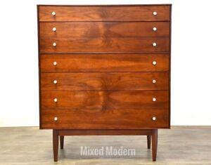 Walnut Tall Mid Century Dresser *MCM*