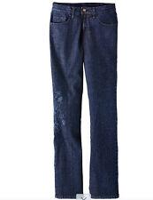 Jeans mit floraler Stickerei - Gr. 42