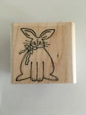 Stampin Up Rubber Stamp Bunny Rabbit Easter Spring Just for Fun Card Making