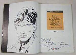HULET Dessin original signé - Les Chemins de la Gloire 1 EO dédicacé BUCQOY 1986