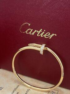 Cartier Juste Un Clou 18K Yellow Gold Bracelet With Diamond