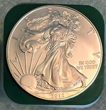 2012 - 1 oz. SILVER EAGLE Coins - straight from original tube - .999 troy BU
