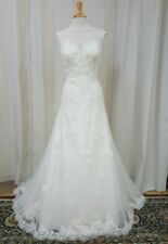 NEW Justin Alexander Sincerity Bridal A Line Lace 3822 Wedding Dress Ivory 14