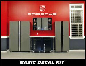 Garage Wall and Floor Decals For Porsche
