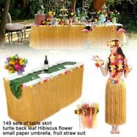 NEW 149x Table Decorations Luau Moana Bulk Green Hawaiian Tropical Party Leaves