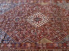 """ANTIQUE QASHQAI TRIBAL HAND KNOTTED 100% WOOL ORIENTAL RUG  6'2"""" X 9'8"""""""