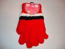 ladies winter wear soft gloves cozy stripe red new