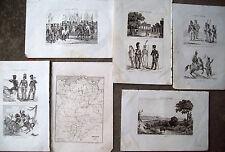 1836 INCISIONI NAPOLEONICHE BERLINO PRUSSIA E MILITARI PRUSSIANI
