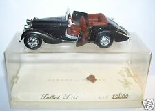 OLD SOLIDO TALBOT T23 1937 NOIRE METAL METAL REF 4003 1/43 BOX