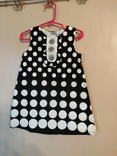 Girls Size 2T Black & White Sleeveless Dress