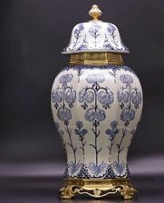 53 cm Extra large Chinoiserie European style  Blue and White Chinese Ginger Jar