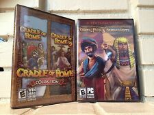 cradle of rome + rome 2 + persia + egypt - 4 computer games on 2 cd-roms - new