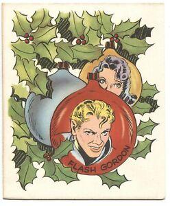 FLASH GORDON CHRISTMAS CARD-MAC RABOY ART-KING FEATRES SYNDICATE-1951-RARE
