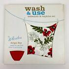 Vintage WILENDURE Printed Cotton RED POPPY TABLECLOTH 54 X 54 W/ 4 Napkins NOS
