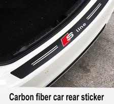 Audi Carbon Fiber Sline Car Bumper Sticker Stylish Boot Emblem Black 3D 90x11cm