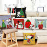 Home Lovely Christmas Snoppy Print Pillowcases Sofa Waist Cushions Pillow Cover