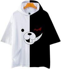 Danganronpa Monokuma Anime Short Sleeve Hoodie T shirt! 3D! Double Sided!