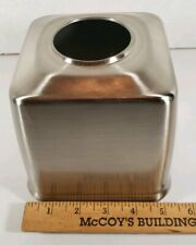 "Stainless Steel Tissue Box Cover Holder 5"" X  5"" Square Open Bottom"