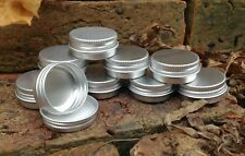 Round Metal Tin 15ml *Lip Balm Camping Survival Kit Small Storage Stash Pot NEW