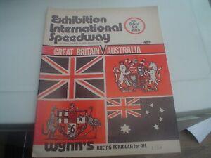 BRISBANE AUSTRALIA V  GREAT BRITAIN 13-1-1973     SPEEDWAY PROGRAMME